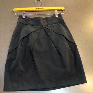 Bebe Black Pencil Skirt with Large Pleats